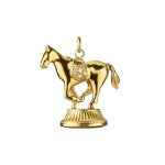 \Grace\ Horse Charm with Diamond Saddle