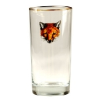 Fox Mask Set of Four Highballs