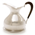Hammered Pitcher with Horn Handle