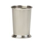 Pewter Kentucky 9 oz.  Julep Cup The simple beauty in the state julep cup of Kentucky, immediately stirs up images of horses, mint juleps, and southern hospitality.  The straight body lines and graceful moldings at the rim and the base of this cup were originally inspired by Asa Blanchard of Lexington and Archibald Cooper of Louisville.  This is wonderful gift for christenings, weddings, and hostess gifts.  This cup is suitable for an initial, monogram, or a small inscription.