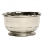 Pewter Trophy Bowl Small A graceful engraved double line and beautiful beading, near the base of the bowl makes this ageless classic fit into many types of décor. This bowl would make a great trophy or gift for many various occasions.  This bowl will support monograms, initials, or an inscription of up to 6 lines.