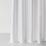 Diamond Pique White Shower Curtain