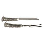 Pewter Horn Carving Set