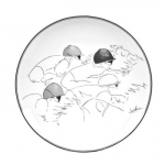 Jockey Salad Plate Original equestrian line drawings meet the elegant craftsmanship of Portugal\'s Vista Alegre.