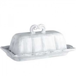 Incanto White Baroque Butter Dish