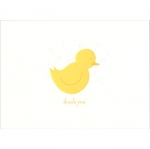 William Arthur Embossed Baby Yellow Ducky Thank You Notes 5 1/8\ x 3 3/4
