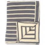 Gray/Natural Beach Stripes Throw