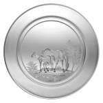 Small Plate/Wine Coaster Engraved with Mare & Foal Image