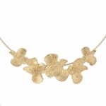 14K Gold Quail Necklace