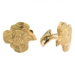 Grainger McKoy 14K Gold Quail Cufflinks These cufflinks are a great gift for the hard-to-buy-for hunter! The Cufflinks are made with pivoting findings so the quail lies flat against your cuff.