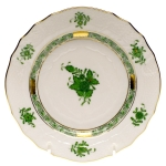 Chinese Bouquet Green Dessert Plate