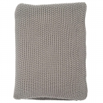 Grey Moss Stitch Throw