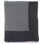 Dark Grey/Light Grey Herringbone Throw