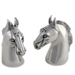 Pewter Horsehead Salt & Pepper