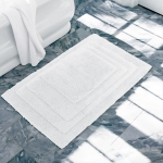 Indulgence White Medium Bath Rug