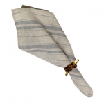 French Market Striped Gray Napkin