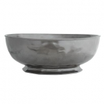 Pewter Stoneware 14\ Round Serving Bowl