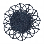 Navy Wicker Placemat