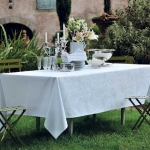 Mille Rubans Blanc Tablecloth