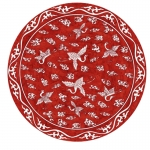 Ming Red Round Placemats