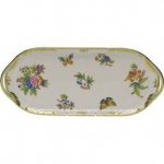 Queen Victoria Green Sandwich Tray