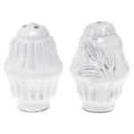 Incanto White Salt & Pepper Shakers