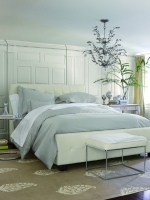 Stresa White King Flat Sheet