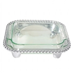 String of Pearls Square Casserole Dish