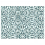 William Blue Rectangle Placemats