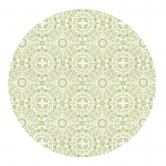 William Leaf Green Round Placemats