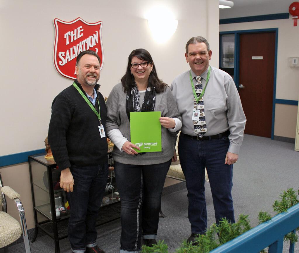 Edmonton team donates $440 to the Kettle Fund