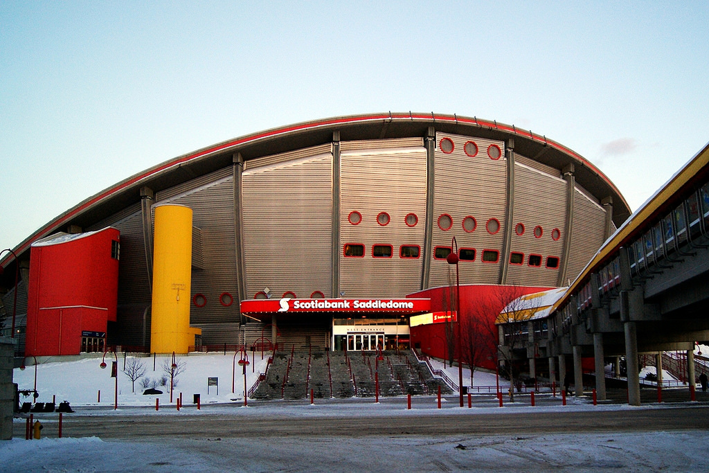 Scotiabank Saddledome In the winter