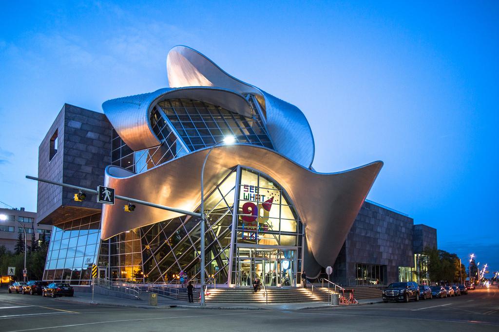 Art Gallery of Alberta during an evening