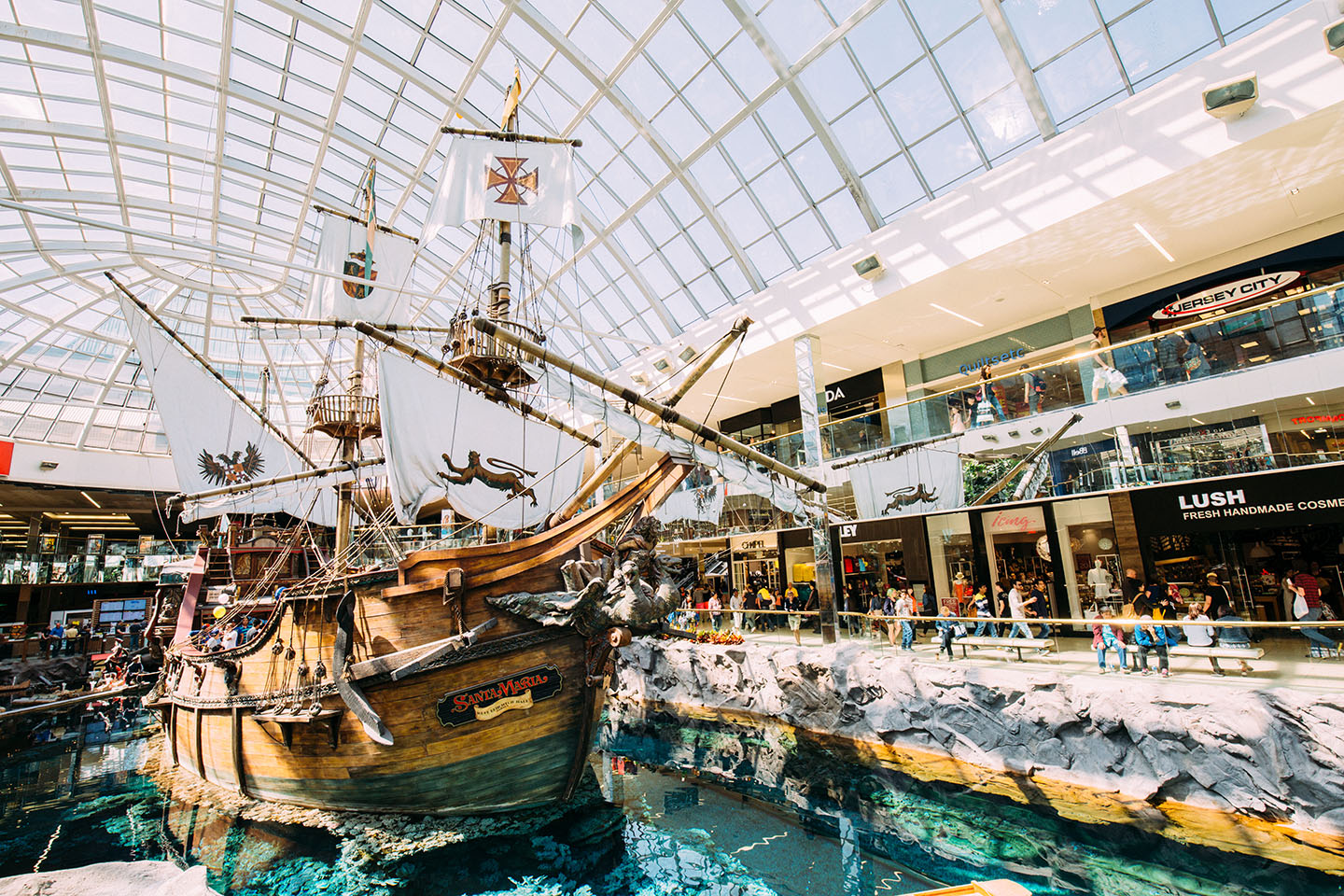 Pirate ship in the middle of West Edmonton Mall