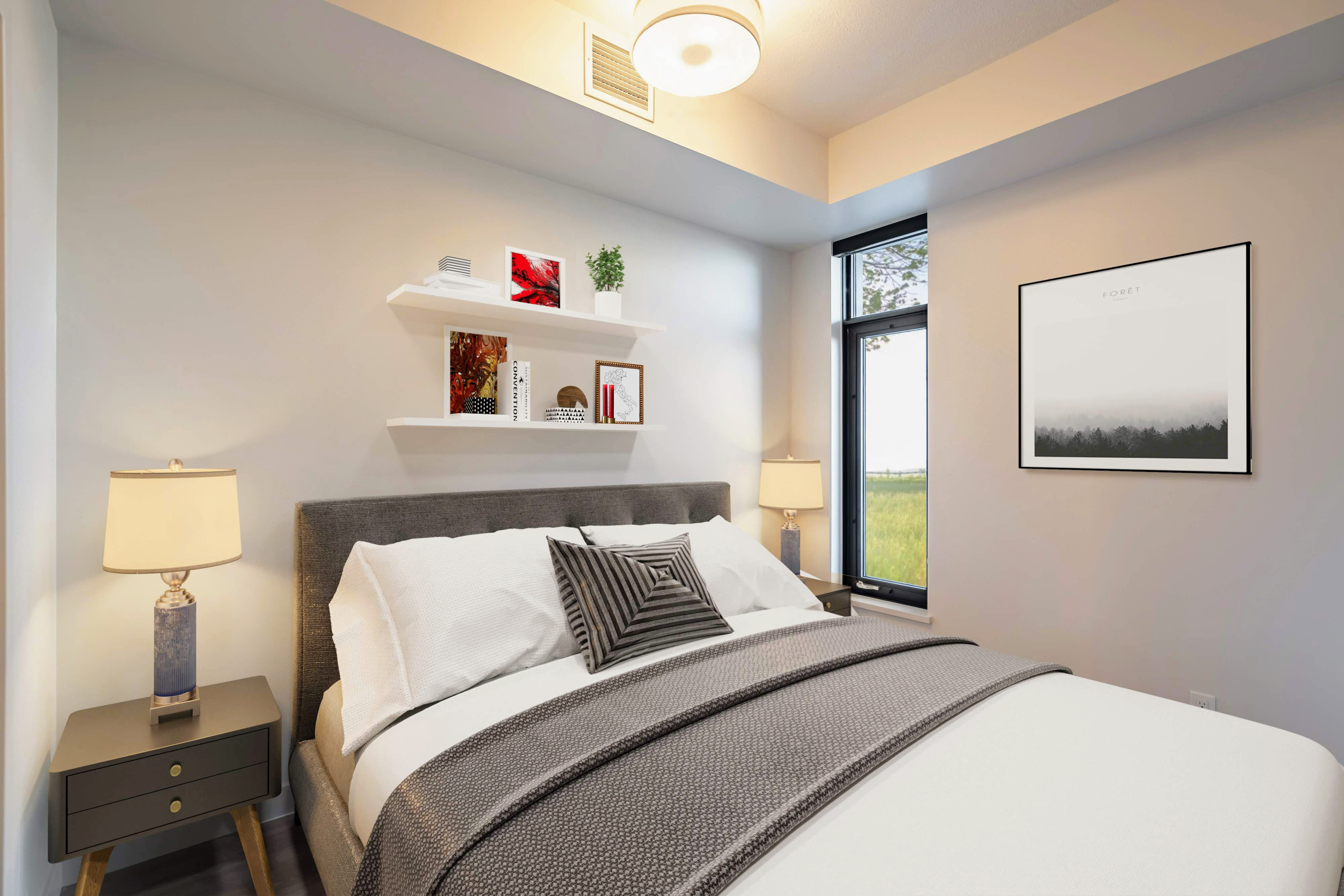 Spacious Bedrooms With Blackout Roller Blinds