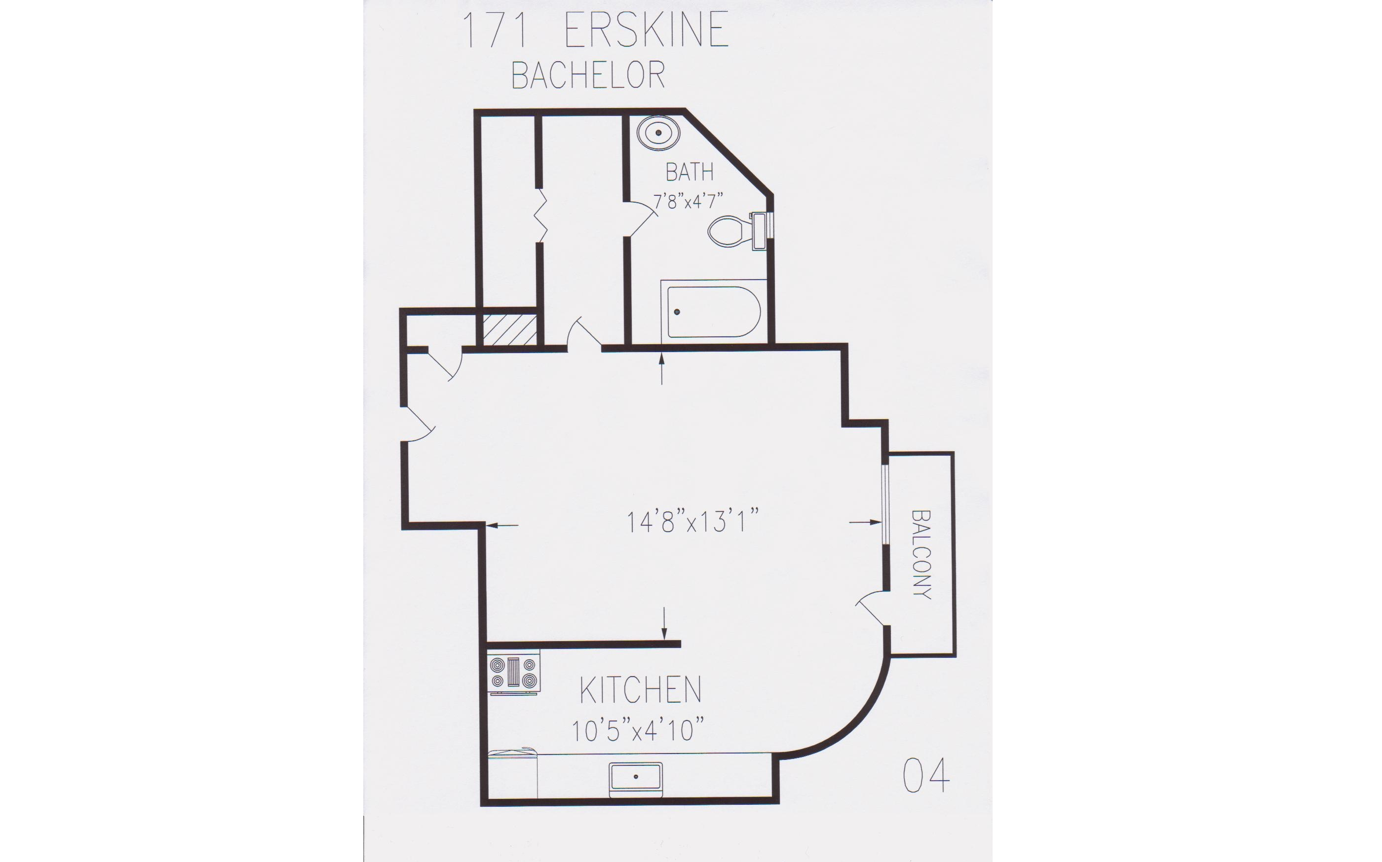 171 erskine avenue berkley property management for Bach floor plans
