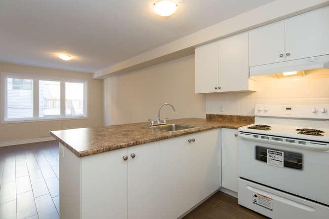 Kitchen overseeing living room - 1 Bedroom + Den