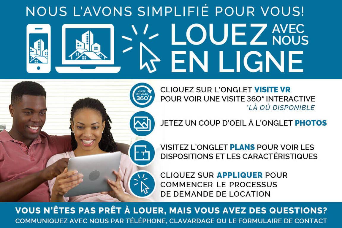 Saint-Laurent Québec Appartement à louer