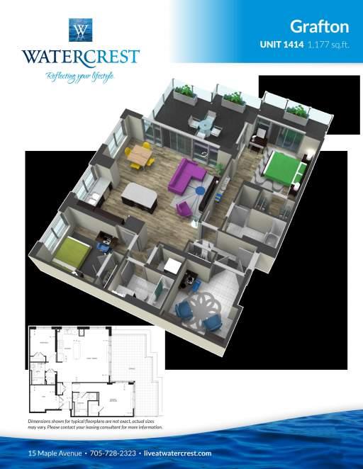 Unit 1414 (Sub-Penthouse)