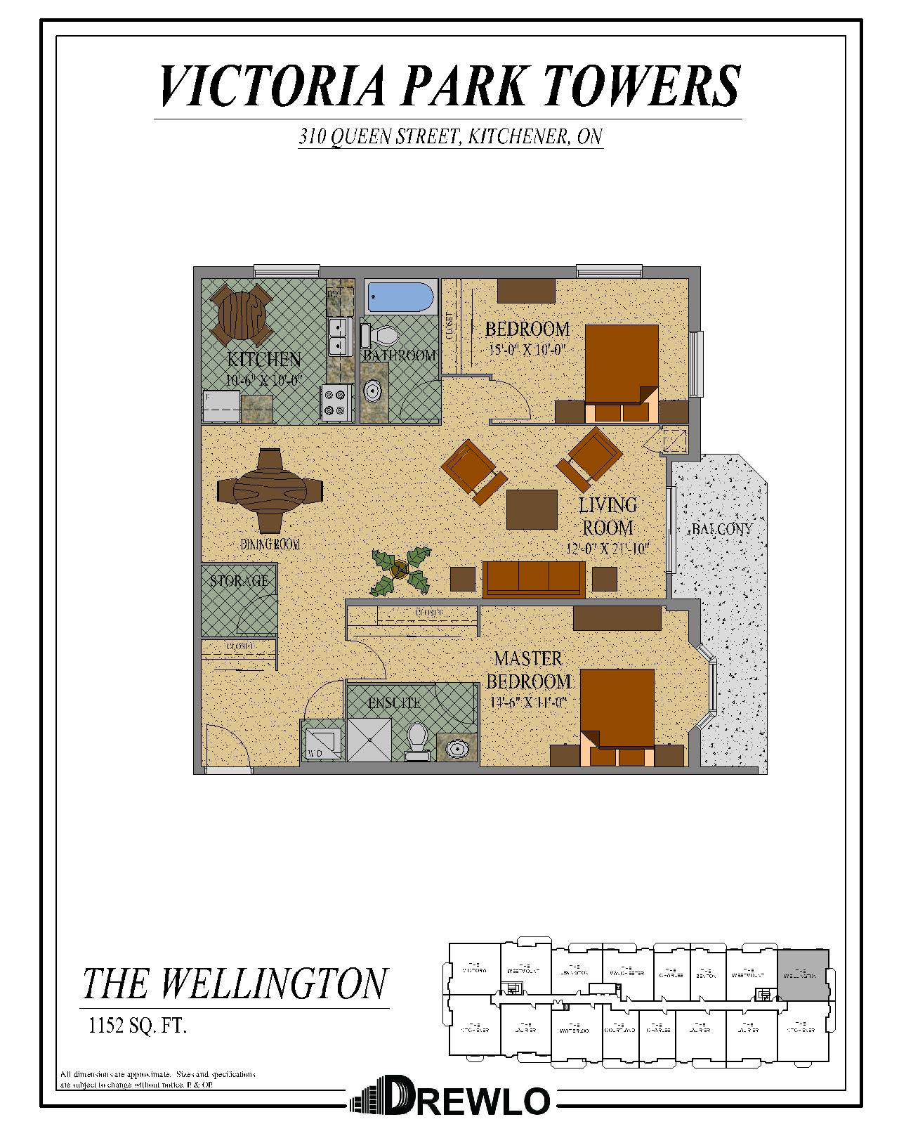 1, 2 & 3 Bedroom Apartment In