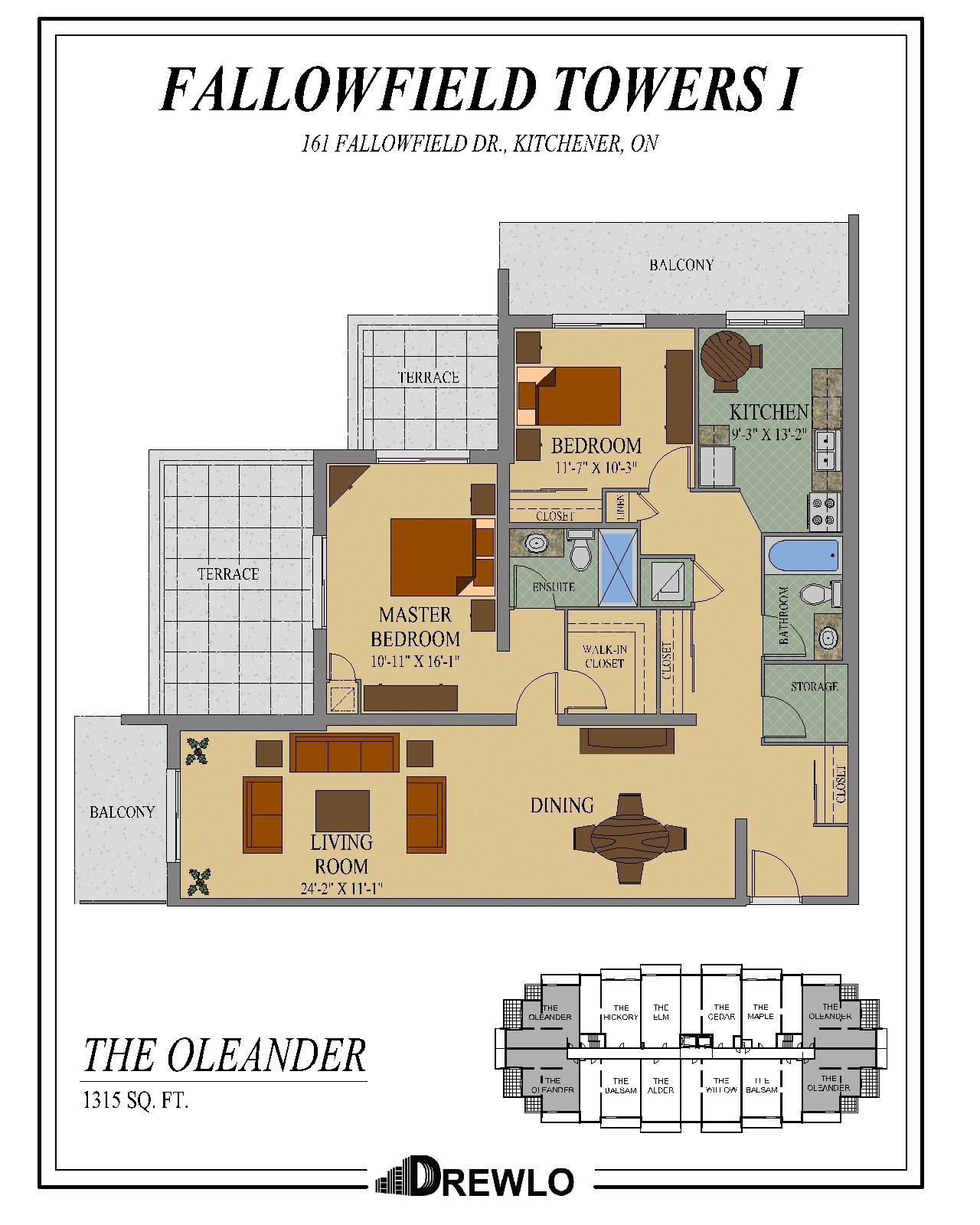 Fairview Mall Floor Plan: Kitchener Apartment Rentals