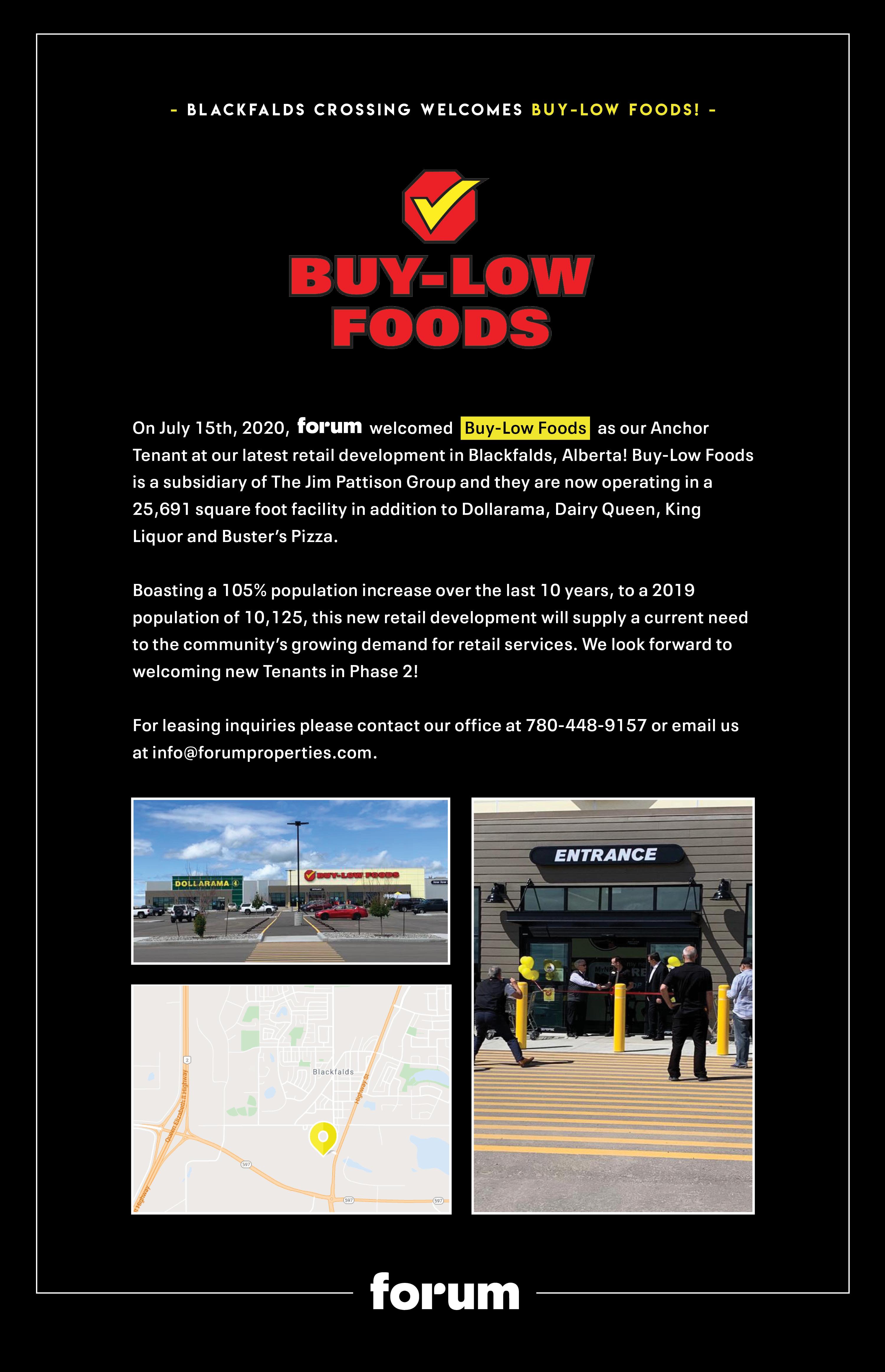 forum welcomes Buy Low Foods