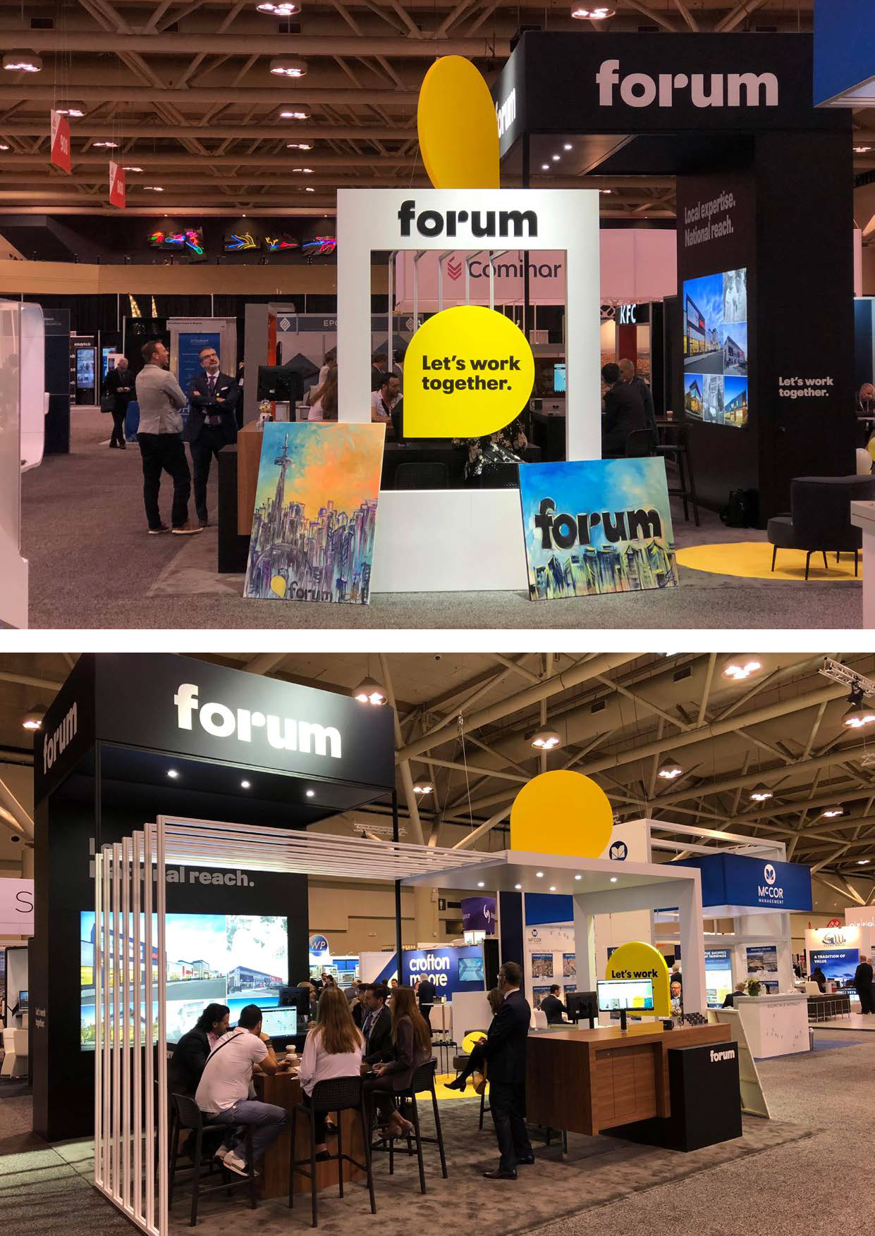 Forum Booth at ICSC Toronto