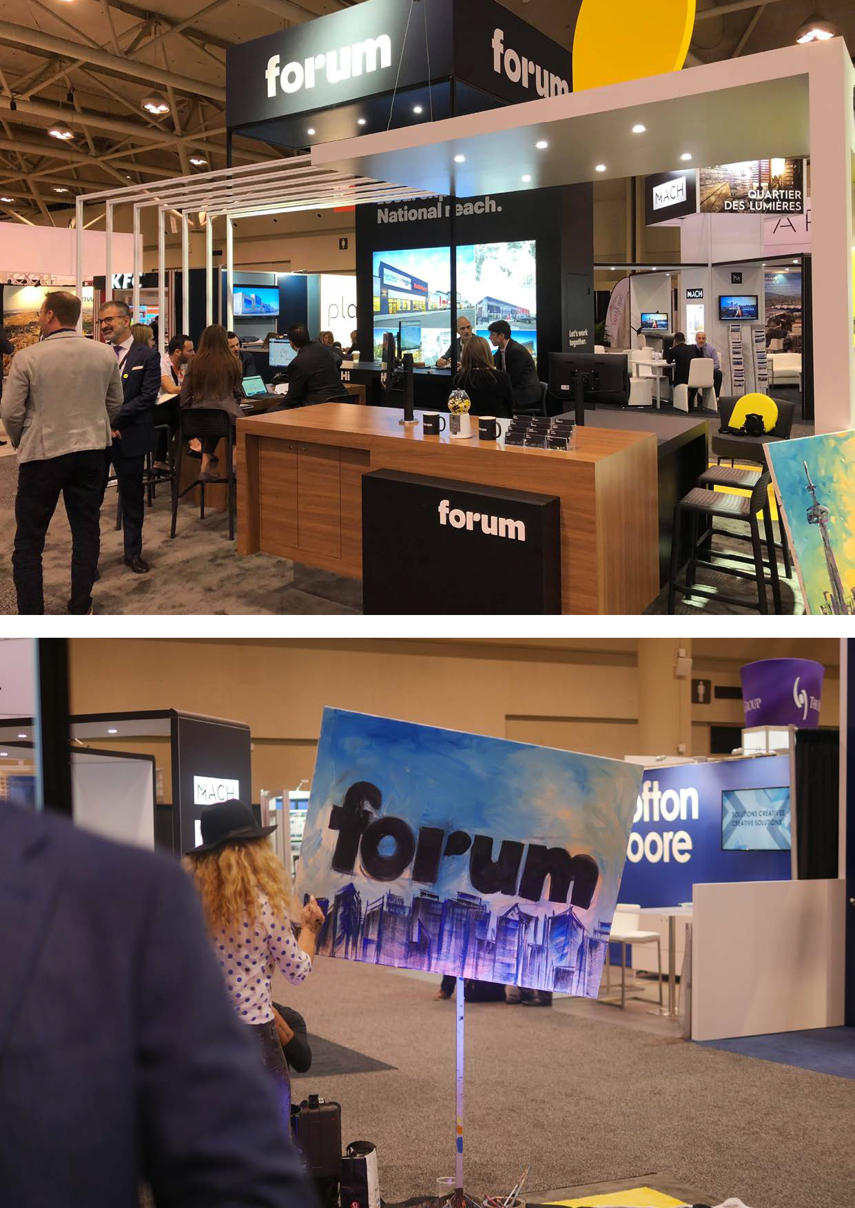 Forum Booth at ICSC Toronto 2
