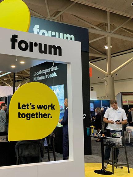 Forum Booth at ICSC Toronto