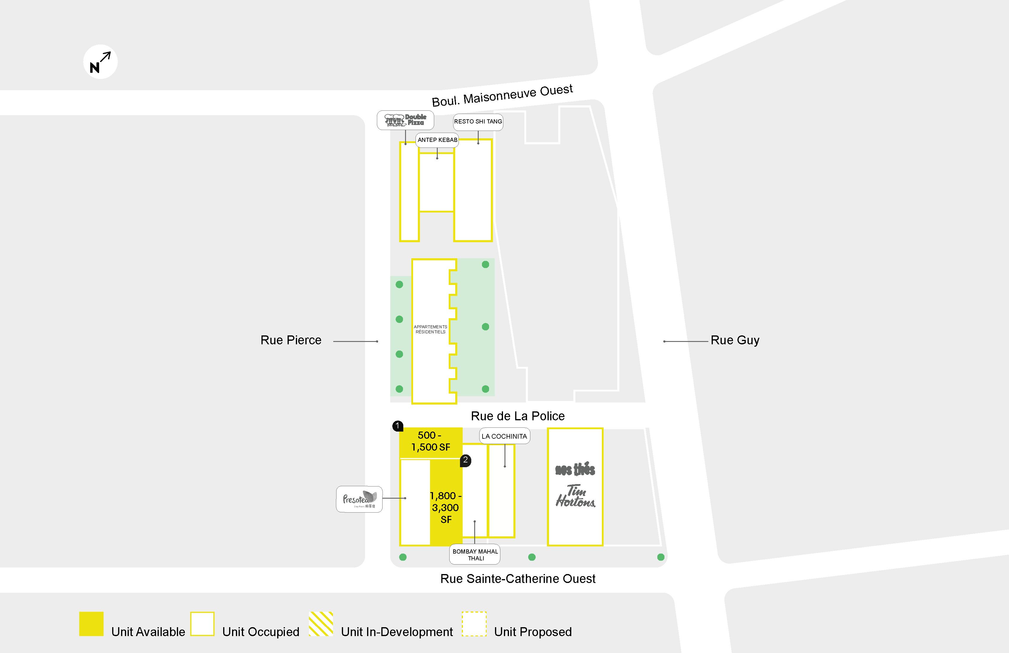 Presotea Sainte-Catherine - Floor Plan