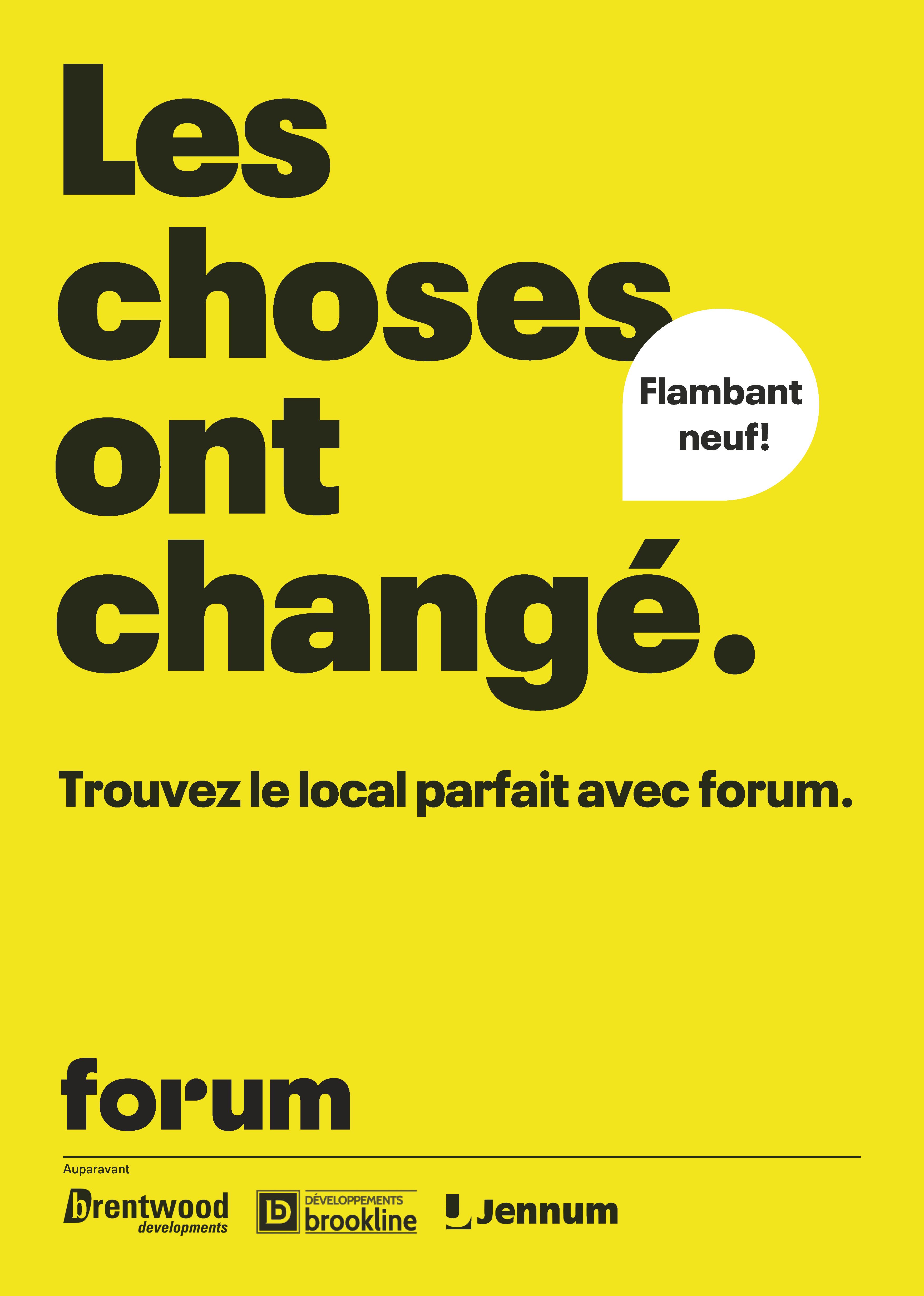 Lancement de Forum