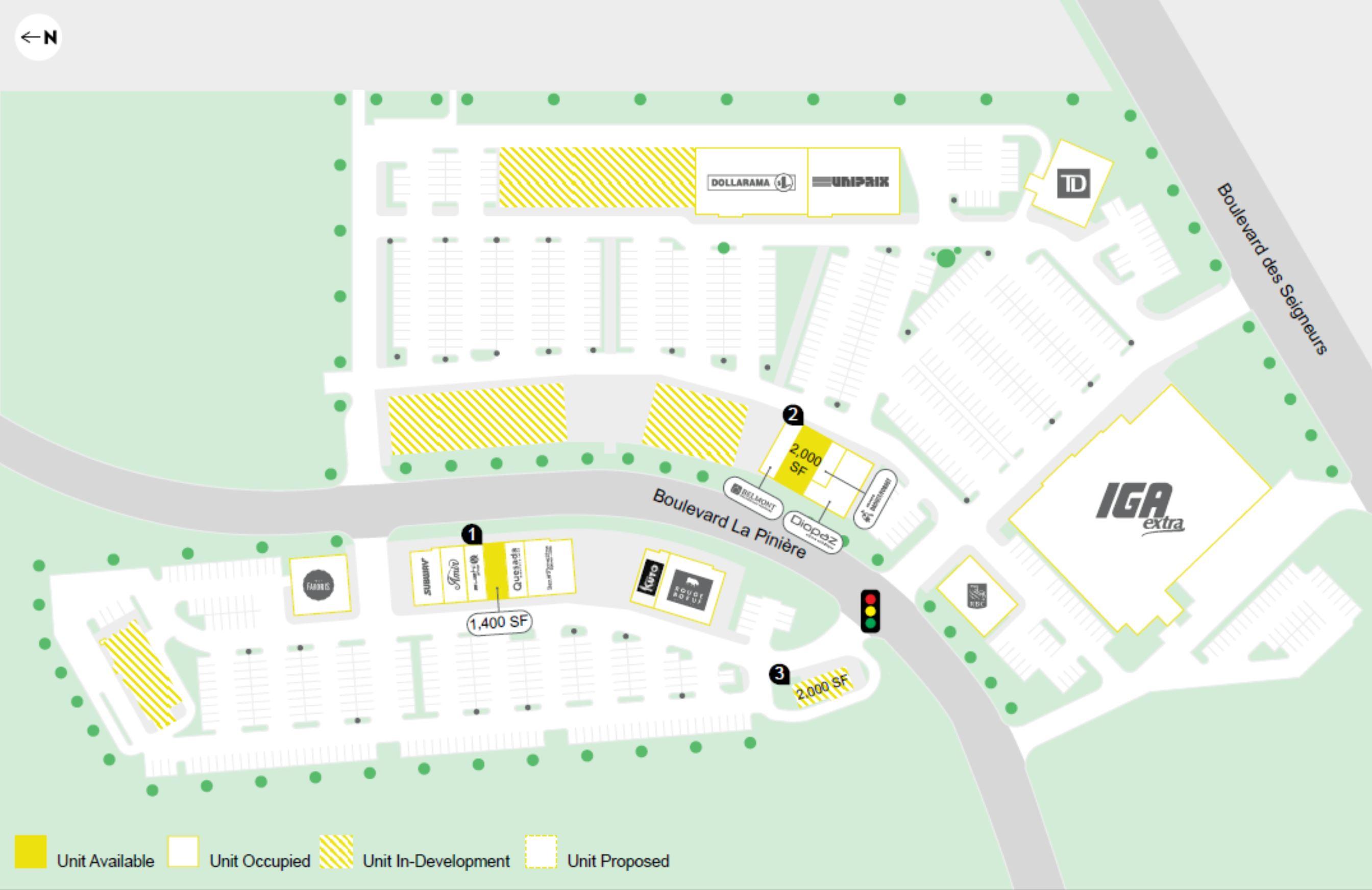 Les Promenades Terrebonne - Floor plan
