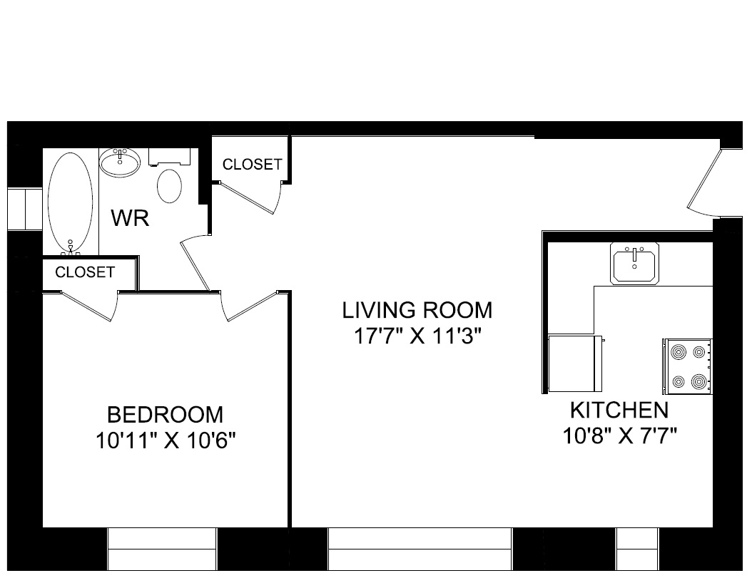3000 3015 3017 queen st east greenwin for Bachelor flat plans