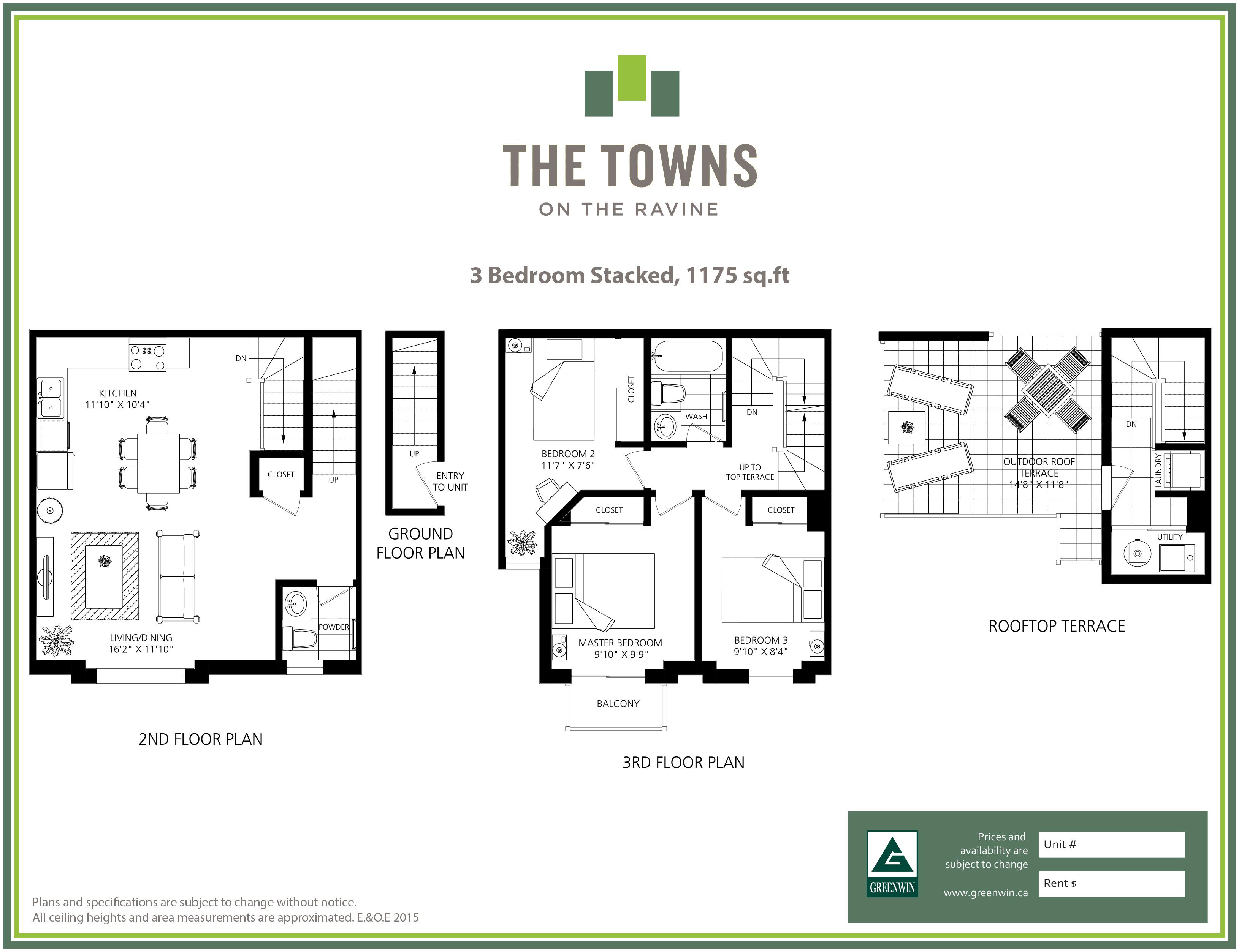 Stacked townhouse floor plans gurus floor for Stacked duplex floor plans